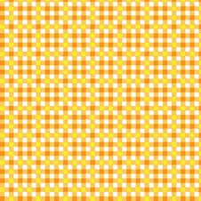 Free Pattern Tablecloth Yellow Orange Stock Photography - 14882112