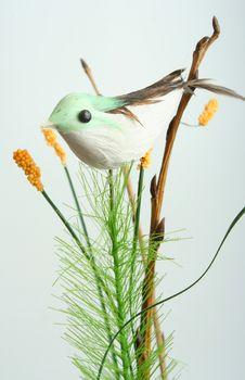 Decorative Bird On Branch Royalty Free Stock Photos