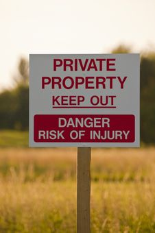 Get Off My Land Private Property Royalty Free Stock Image