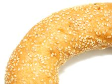 Free A Part Of Bagel With Sesame Seeds Royalty Free Stock Photo - 14882745