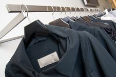 Free Clothes On Racks In Store Stock Images - 14883284