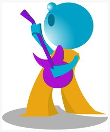 Free Blueman Guitarist Royalty Free Stock Images - 14883719