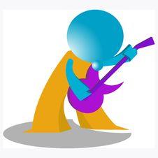 Free Blueman Guitar Player Stock Image - 14883731