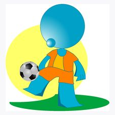 Free Blueman Soccer Player Stock Photos - 14883743