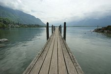 Free Wooden Pier For Boats And Yachts Royalty Free Stock Photography - 14884157