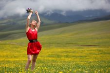 Free The Girl In Mountains Stock Photography - 14884232