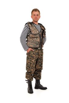Man In Camouflage Royalty Free Stock Image