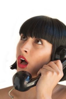 Woman On The Telephone Royalty Free Stock Images
