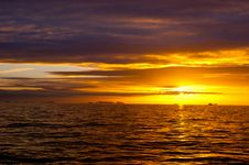 Free Sea Sunset Idyll Royalty Free Stock Photography - 14884877
