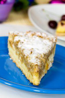 Free Dessert Sweet Apple Pie,on White Background Royalty Free Stock Photo - 14884955