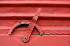 Handle On The Side Of A Train Boxcar Royalty Free Stock Photography