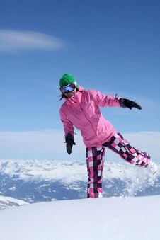 Free Snowboarder 3 Royalty Free Stock Image - 14886816
