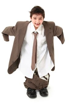 Free Adorable Boy In Suit Royalty Free Stock Photos - 14887688
