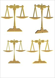 3d Scales Of Justice Royalty Free Stock Image