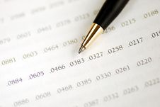 Focus On The Amortization Table Stock Image
