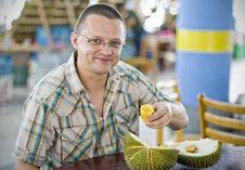 Taste Of Durian Fruit Stock Images