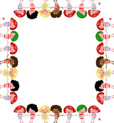 Free Vector Chidren Frame Banner Border Kids Stock Photo - 14889200