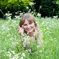 Free A Girl Among The Flowers Stock Image - 14895421