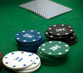 Free Cards And Poker Chips Royalty Free Stock Photography - 14896637