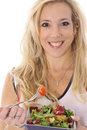 Free Woman Eating A Salad Stock Photography - 14896942
