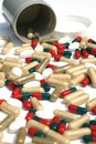 Free Pills Spill Out Of Bottle Stock Photography - 14899162