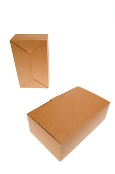 Free Brown Cardboard Box, Isolated On White. Royalty Free Stock Images - 14890809