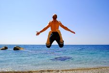 Free Man On The Beach Stock Photography - 14891232