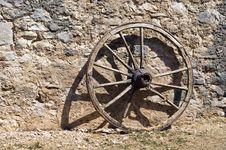 Free Wheel At A Brickwall Royalty Free Stock Images - 14891279