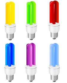 Free Power Saving Light Bulbs Stock Photo - 14891340