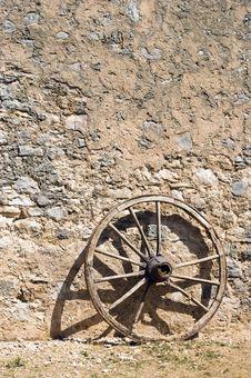 Free Wheel At A Brickwall Stock Images - 14891354