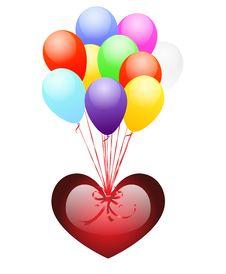 Free Balloons And Heart Stock Photo - 14891360
