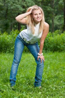 Free Attractive Woman In Park Stock Photos - 14891713