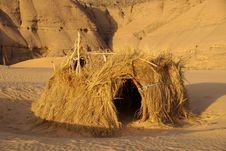 Free Hut In Libyan Desert Royalty Free Stock Images - 14892439