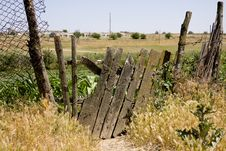 Free Old Wooden Fence On The Thrown Farm Stock Photography - 14893312