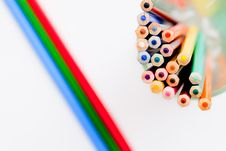 Free Pencil And Pastel Royalty Free Stock Photos - 14893608