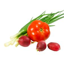 Free Onions, Tomatoes And Radishes; Royalty Free Stock Photo - 14893905