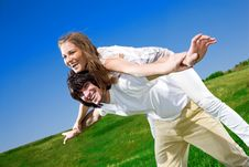 Free Girl And Boy With Smile Stock Photos - 14894193