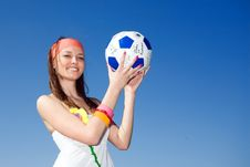 Free Girl With Ball Royalty Free Stock Images - 14894269