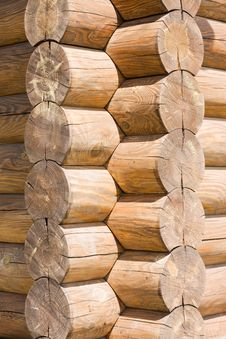 Free Corner Of Wooden Log Cabin Stock Photo - 14895090