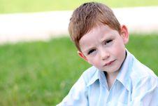 Free Portrait Of Beautiful Little Boy Royalty Free Stock Photo - 14895635