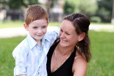 Free Happy Mother And Her Little Son Stock Images - 14895644