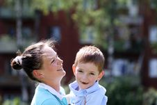 Free Happy Mother And Her Little Son Stock Photos - 14895673