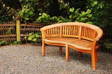 Free Wooden Garden Bench Stock Photography - 14896142