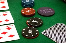 Free Cards And Poker Chips Stock Photo - 14896640