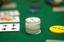 Free Cards And Poker Chips Royalty Free Stock Photography - 14896677