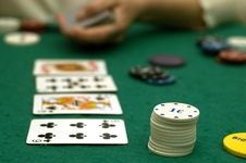 Free Cards And Poker Chips Royalty Free Stock Image - 14896686