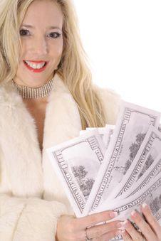 Free Diva Showing Off Money Stock Photo - 14896850