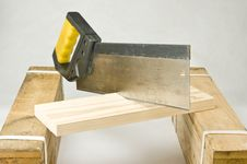 Free Cutting A Wooden Piece Stock Image - 14896991