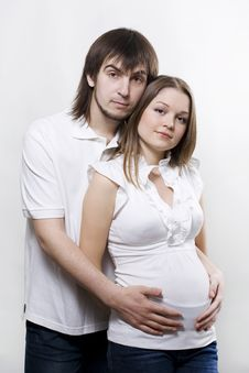 Couple Waiting For Baby Royalty Free Stock Images