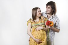 Couple Waiting For Baby Stock Photo